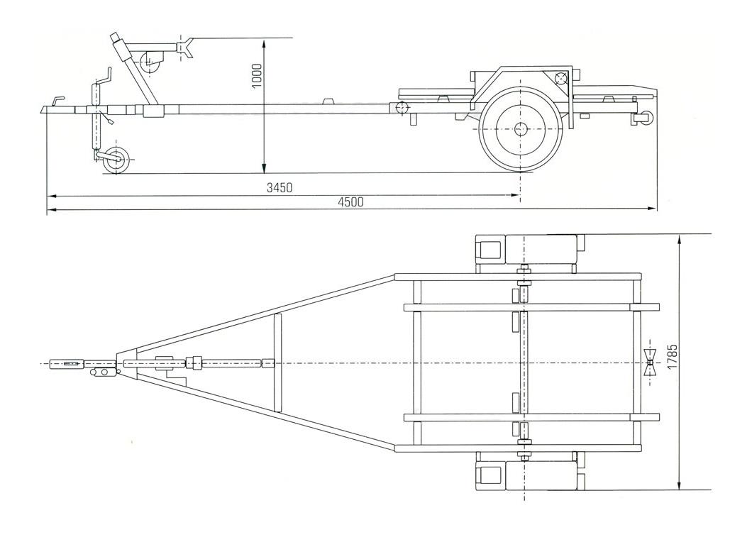 Лодочный прицеп ЛАВ 81015