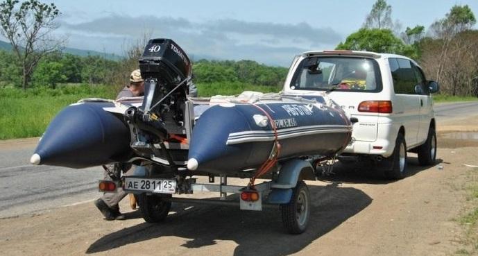 Прицеп для лодки пвх - виды и особенности